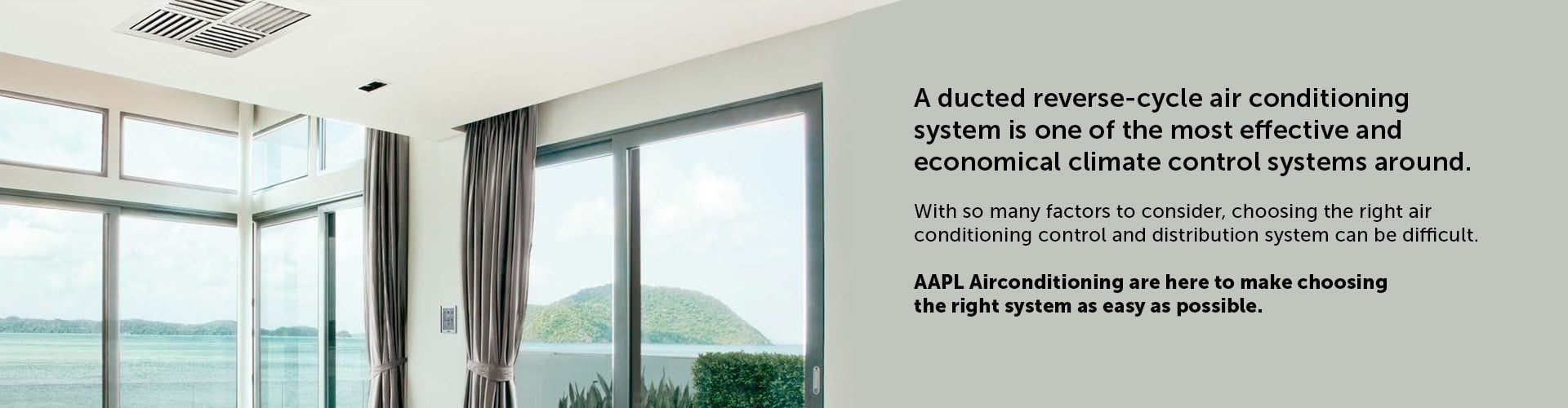 ducted reverse cycle air conditioning with AAPL
